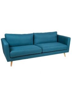 Sofá 3 plazas azul Tenas -...