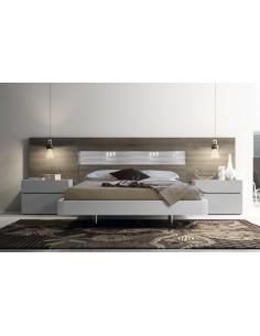 Dormitorio de matrimonio lacado con metracilato y leds