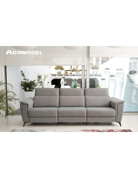 Sofá Acomodel Selec con patas de 3 plazas tela