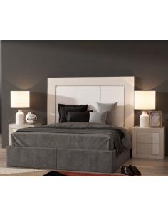 Dormitorio madera de roble lacado en blanco Nordik