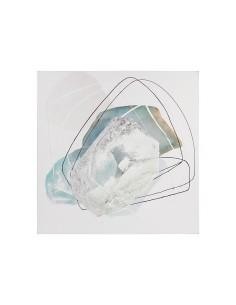 Cuadro abstracto de óleo sobre lienzo 90x4x90 cm