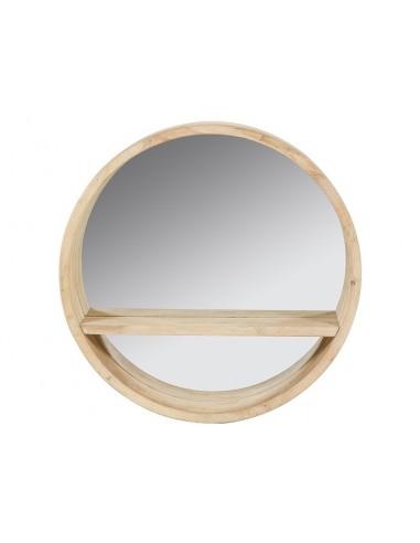 Espejo redondo de madera de...