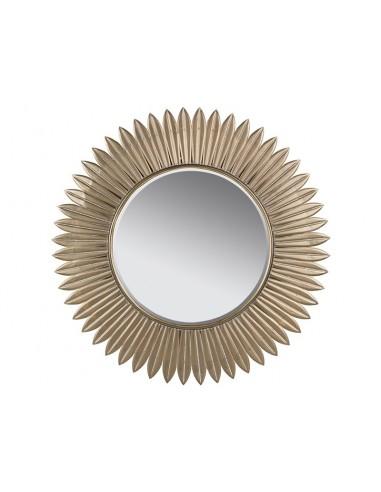 Espejo dorado de latón...