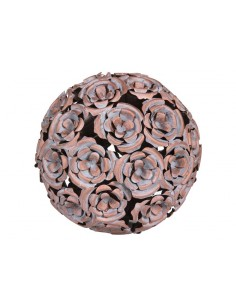 Bola metal flor color cobre...