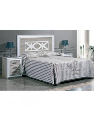 Conjunto dormitorio blanco lacado Florencia