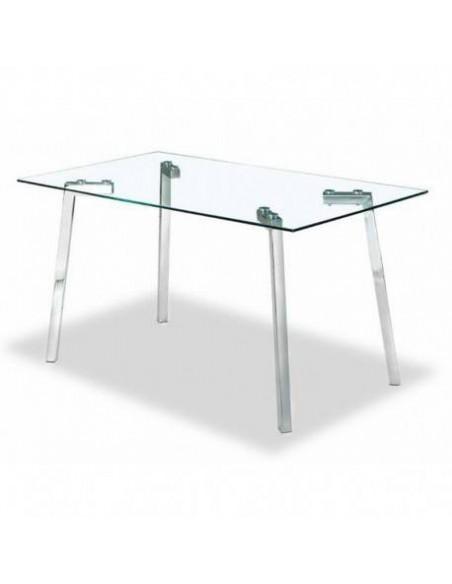 Mesa moderna rectangular con estructura minimal design