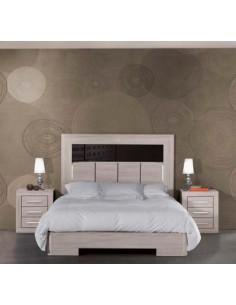 Dormitorio Stella con cabecero detalle Antracita alto brillo