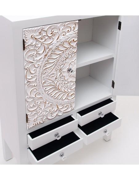 Mueble aparador vintage blanco