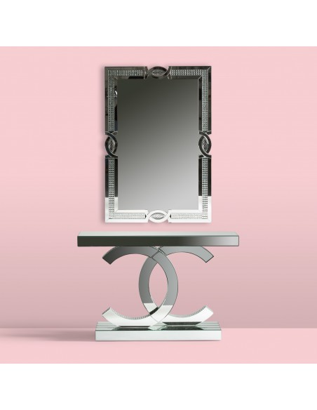 consola chanel espejo con espejo de pared a juego