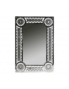 Espejo JET de estilo moderno con cristales facetados en el marco