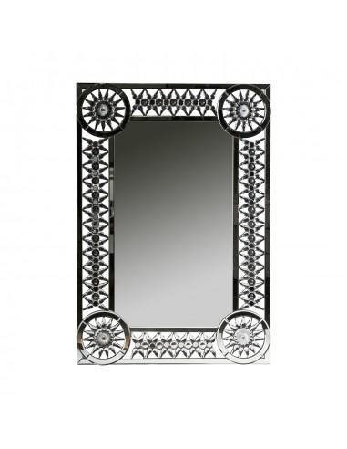 Espejo JET de estilo moderno con cristales facetados