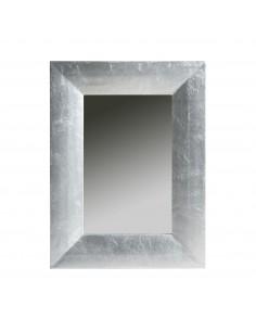 Espejo plateado de estilo barroco/moderno LIDIA SILVER (80x60)