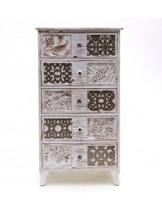 Sinfonier CASABLANCA de diseño vintage de madera tallada y patas