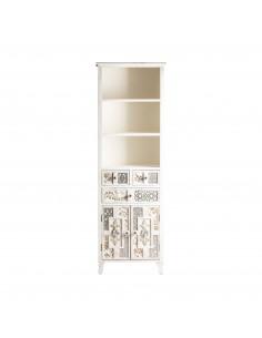 Libreria blanca alta de diseño vintage