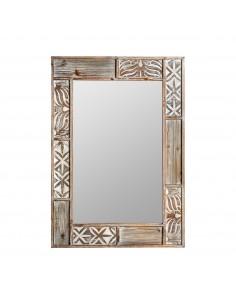 Espejo BALI de diseño barroco y vintage en marrón