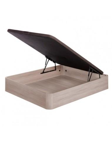 Canapé abatible esquinas de madera con base tapizada transpirable