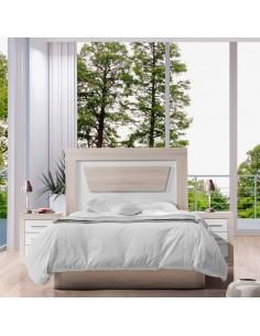 Dormitorio Rosana stella con cabecero fondo en Pino
