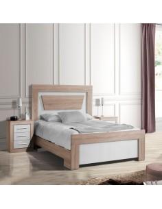 Dormitorio de matrimonio cambrian y blanco con bancada a juego