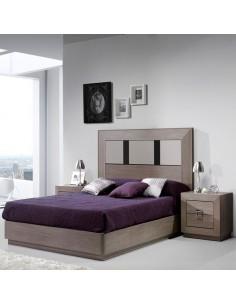 Dormitorio Ibiza Versus con detalle en antracita y visón