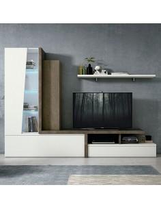 Mueble de salón modular de estilo moderno color óxido