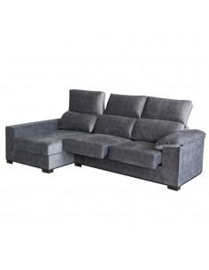 Sofá Chaise Longue Oslo con asientos deslizantes y reclinables