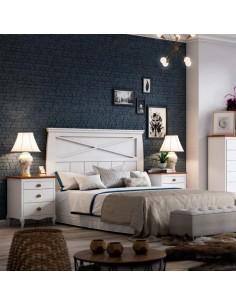 Dormitorio Eva Clasic lacado en blanco poro abierto