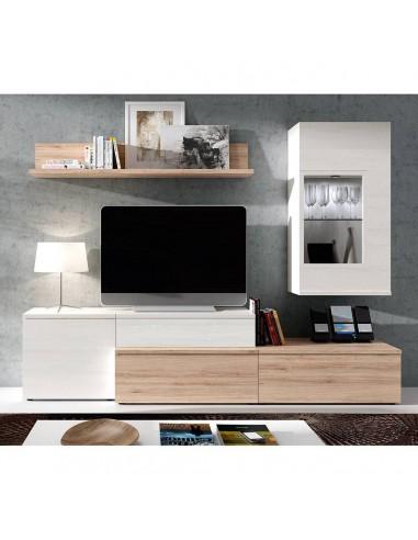 Mueble de salón color Roble y Polar