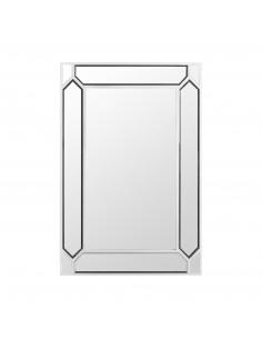 Espejo blanco moderno PANAL con marco de cristal/espejo
