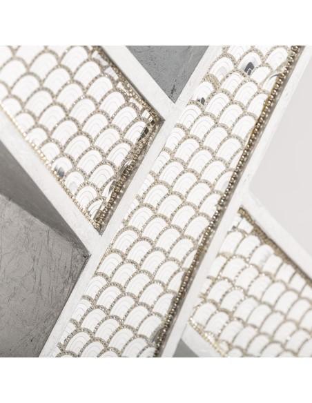 Consola PEACOCK en espejo estilo retro/moderno, de 2 cajones
