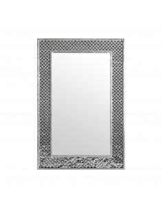 Espejo Peacock con marco de detalles brillantes