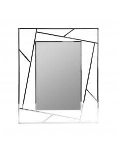 Espejo Manhattan moderno con marco de acero