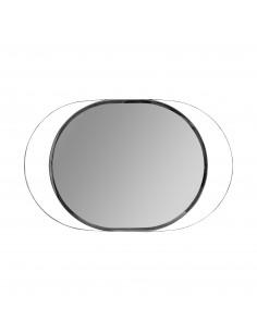 Espejo moderno OVAL CROMO con marco en plata