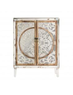 Mueble auxiliar taquillón vintage blanco calcuta