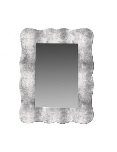 Espejo decorativo de madera color plata