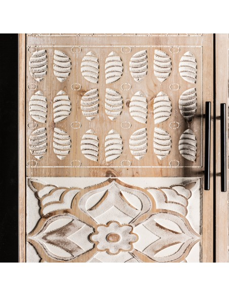 Armario PUCKET de madera y hierro con 2 puertas en estilo étnico