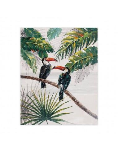 Cuadro decorativo pintado a mano estilo tropical