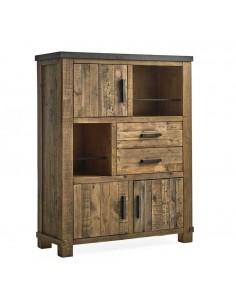 Alacena rústica de madera de pino Kansas