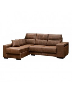 Sofá Chaise Longue Madison con asientos deslizantes y puffs