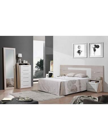 Conjunto dormitorio moderno con luces LED