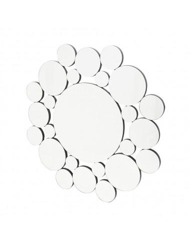 Espejo de cristal con forma circular