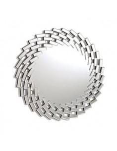 Espejo redondo con marcóo formado de lunasbiseladas