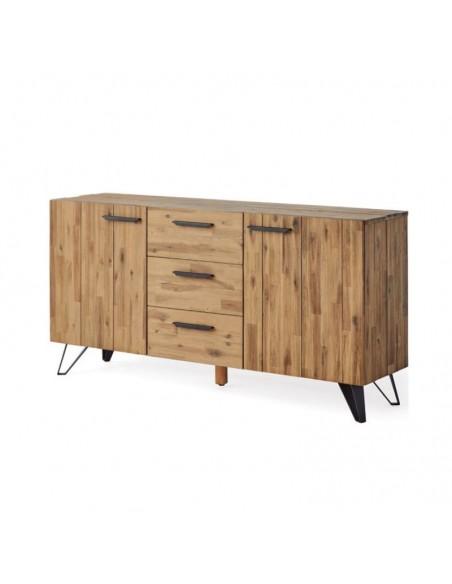 Aparador de diseño de madera maciza color natural
