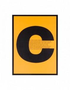 Cuadro CONCEPT negro 30x40