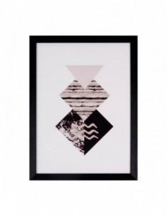 Cuadro DIAMOND negro 30x40