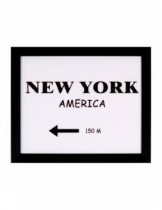 Cuadro DIRECTION NY negro 30x25