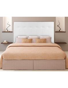 Cabecero tapizado en polipiel de diseño moderno