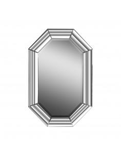 Espejo CURVAS de diseño moderno con marco forrada con espejo