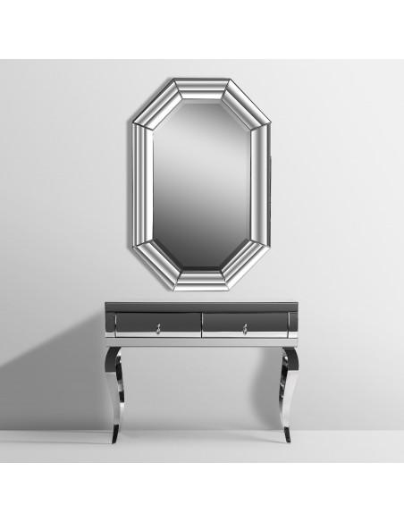 Espejo de de diseño moderno con marco forrada con espejo