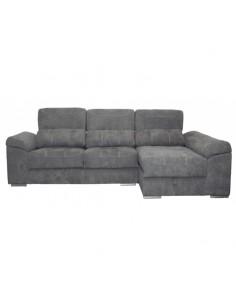 Sofá chaise longue con muelles ensacados, arcón y revisteros