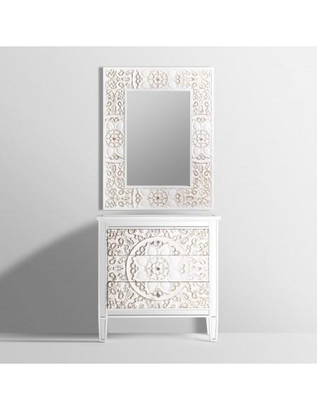 Espejo blanco vintage NOOR